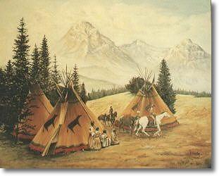 Tipis En El Campamento